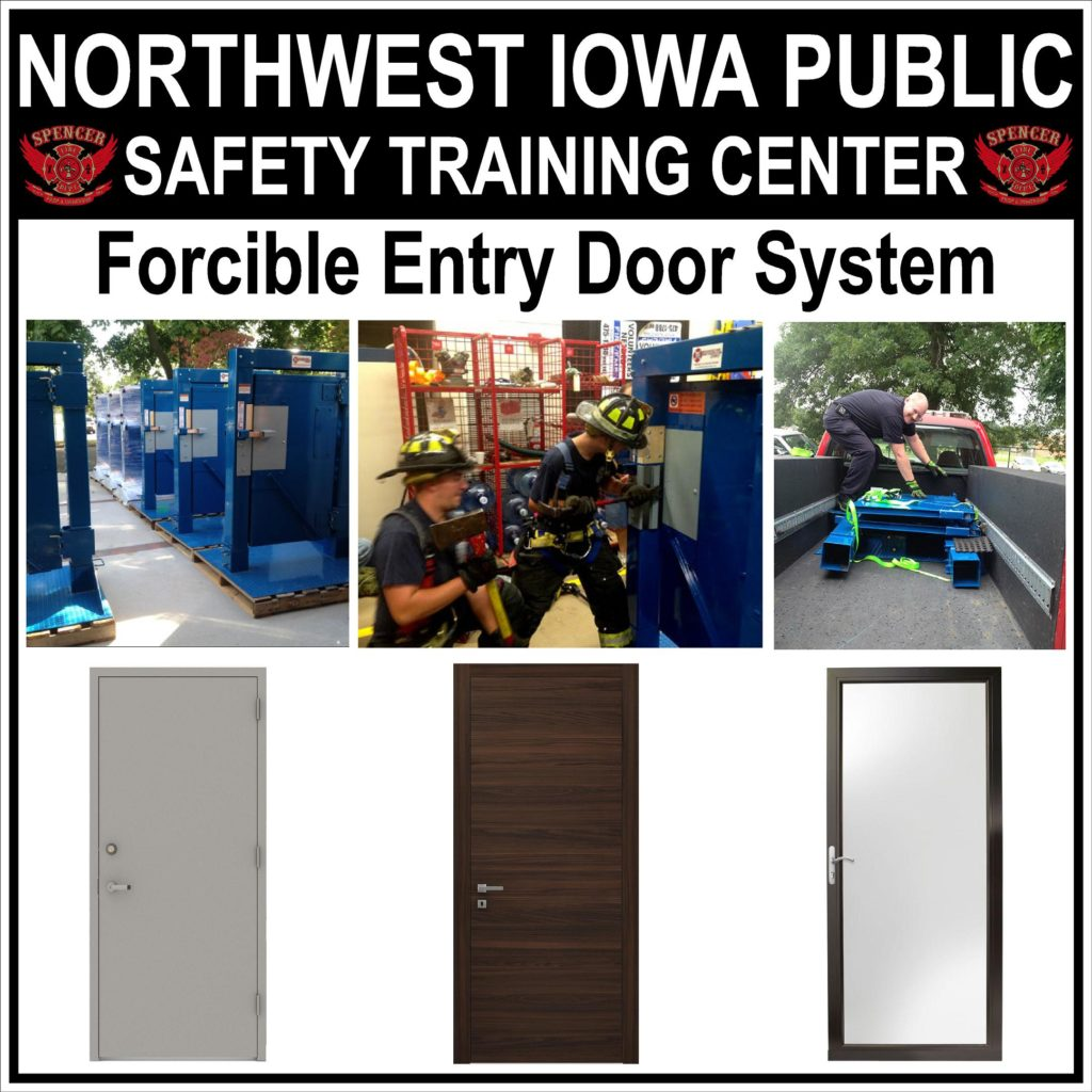 Forcible Entry Door System Sign (30x30) Proof